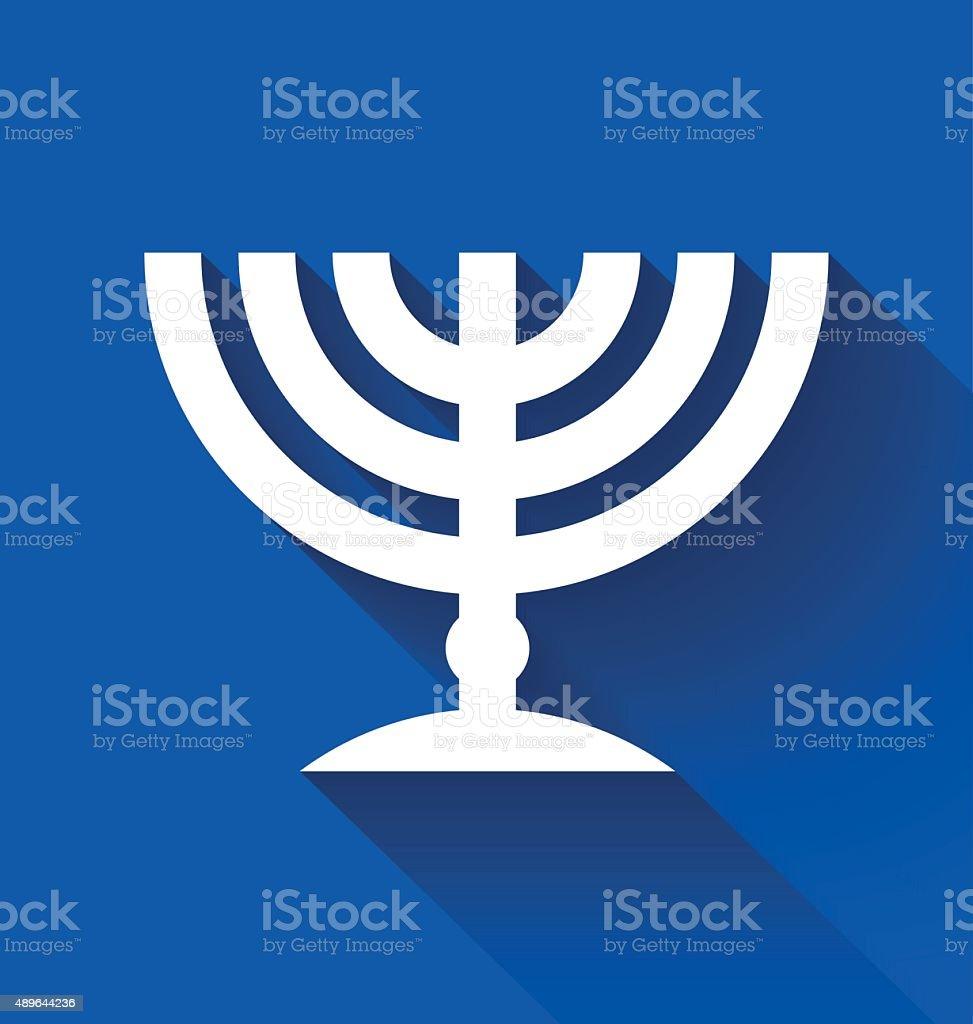 Jewish menorah vector art illustration