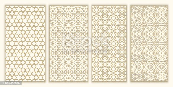 istock Jewish ornament and david star set seamless pattern 1184058997