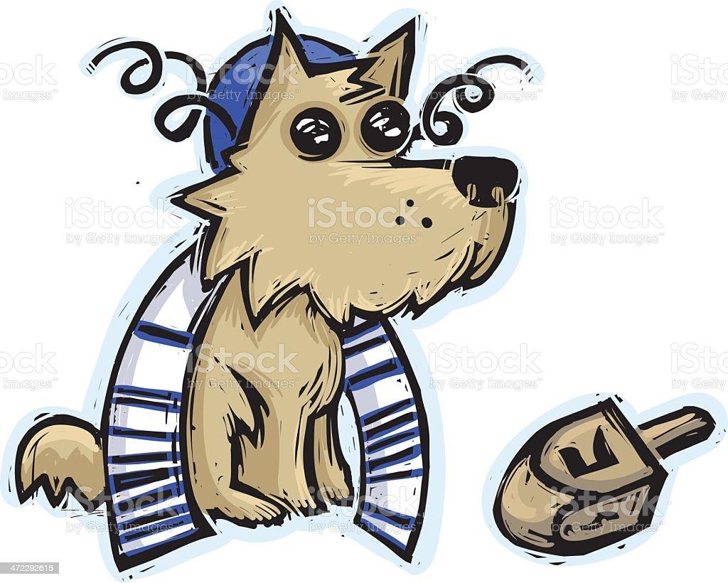 Jewish Puppy vector art illustration