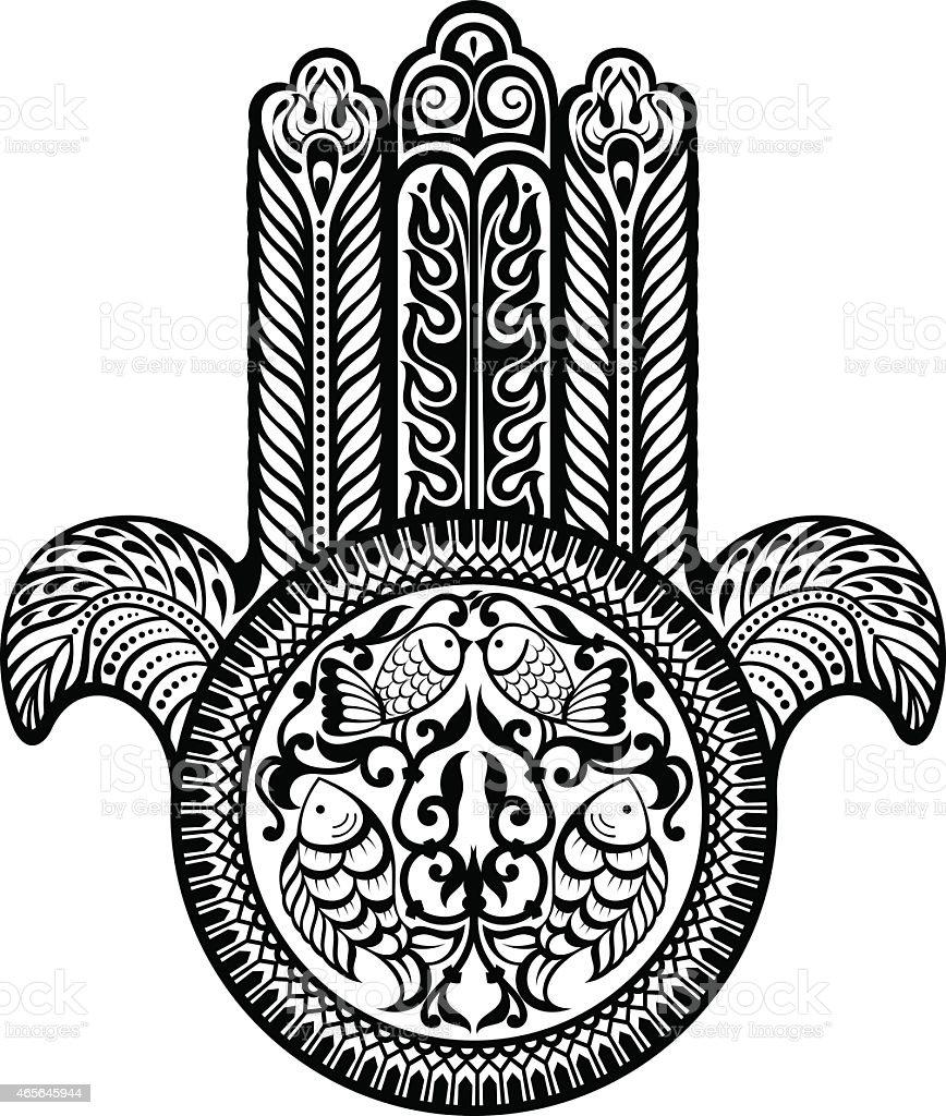 Jewish Sacred Amulet Hamsa Stock Vector Art More Images Of 2015