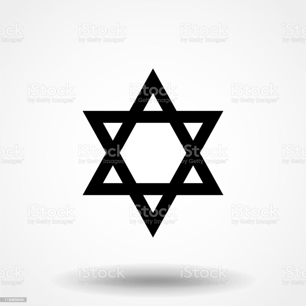 Jewish Star Of David Six Pointed Star In Black With Interlocking Style Vector Icon Stock Illustration Download Image Now Istock