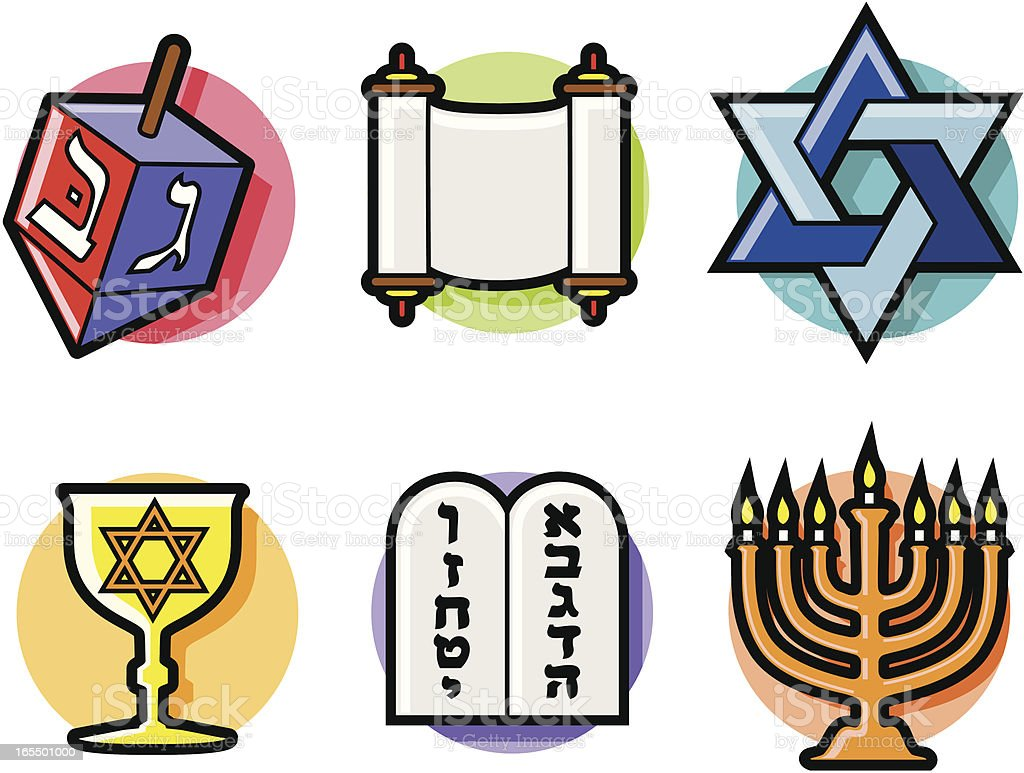 Jewish Symbols Stock Vector Art More Images Of Bible 165501000