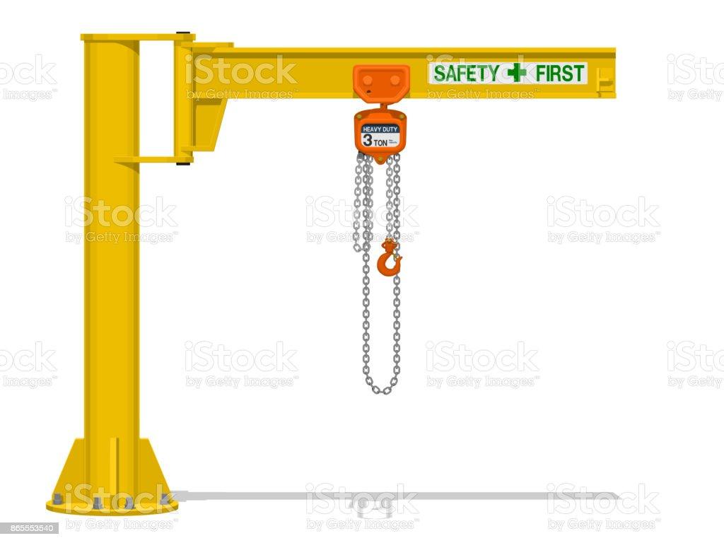 Jib crane vector art illustration