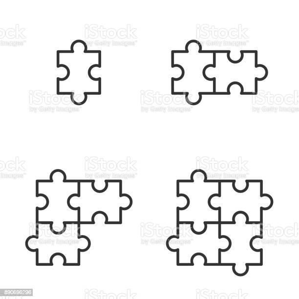 Jigsaw icons vector illustration vector id890696296?b=1&k=6&m=890696296&s=612x612&h=yufjems4higabhkxokzxo3o0jveekjvd4nkcz5gvw2c=