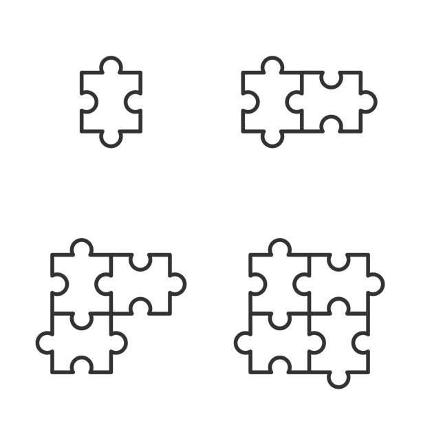 ジグソー パズルのアイコン ベクトル イラスト - パズル点のイラスト素材/クリップアート素材/マンガ素材/アイコン素材