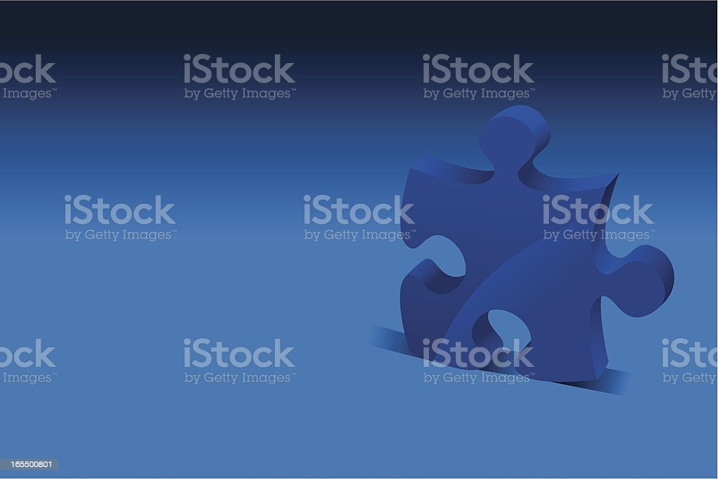 Jigsaw piece royalty-free stock vector art