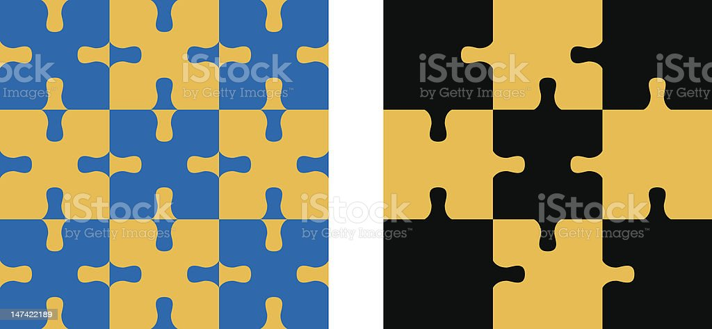 Jigsaw pieces royalty-free stock vector art