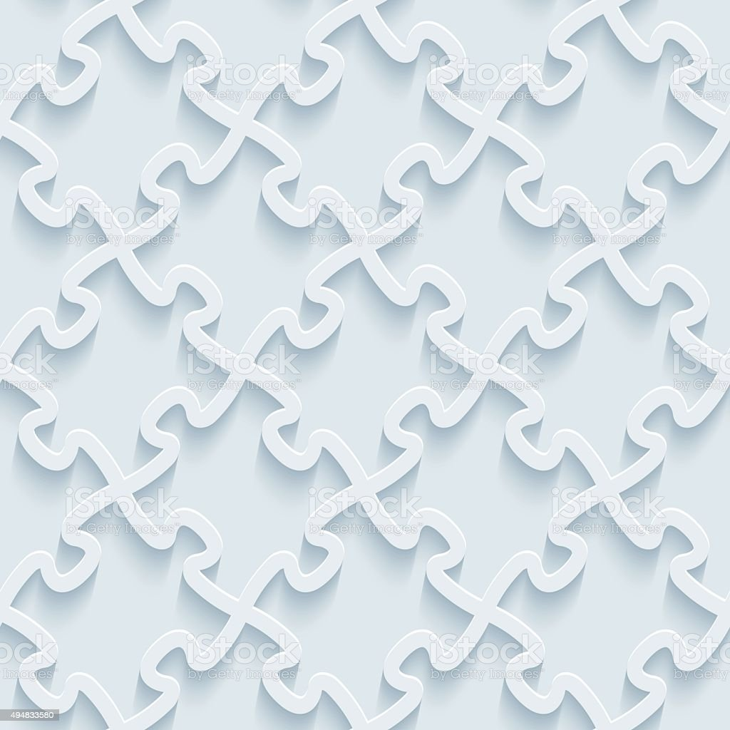Jigsaw Puzzle 3D Seamless Wallpaper Pattern Royalty Free 3d