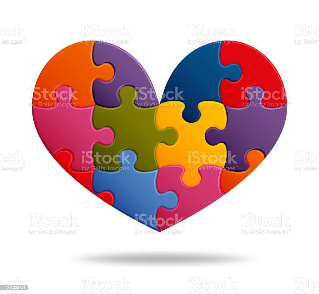 Jigsaw Puzzlehintergrund Mit Vielen Bunten Stücken Abstrakte Mosaik