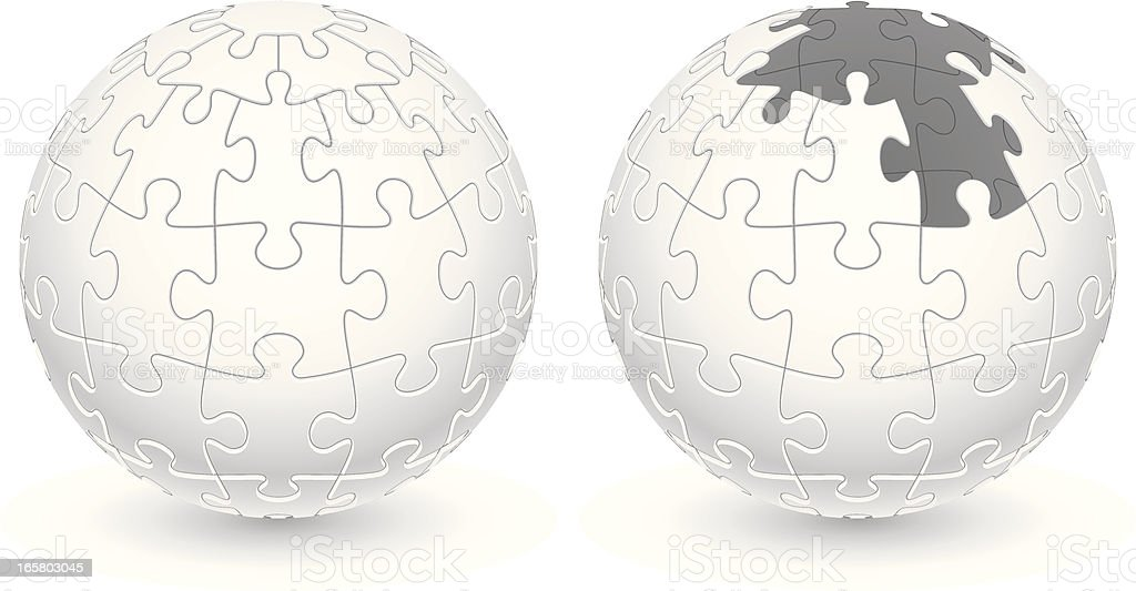 Jigsaw Puzzle Ball Stock Illustration - Download Image Now ...