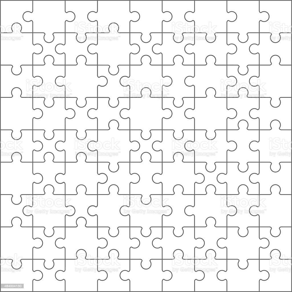 Jigsaw puzzle blank template.vector vector art illustration