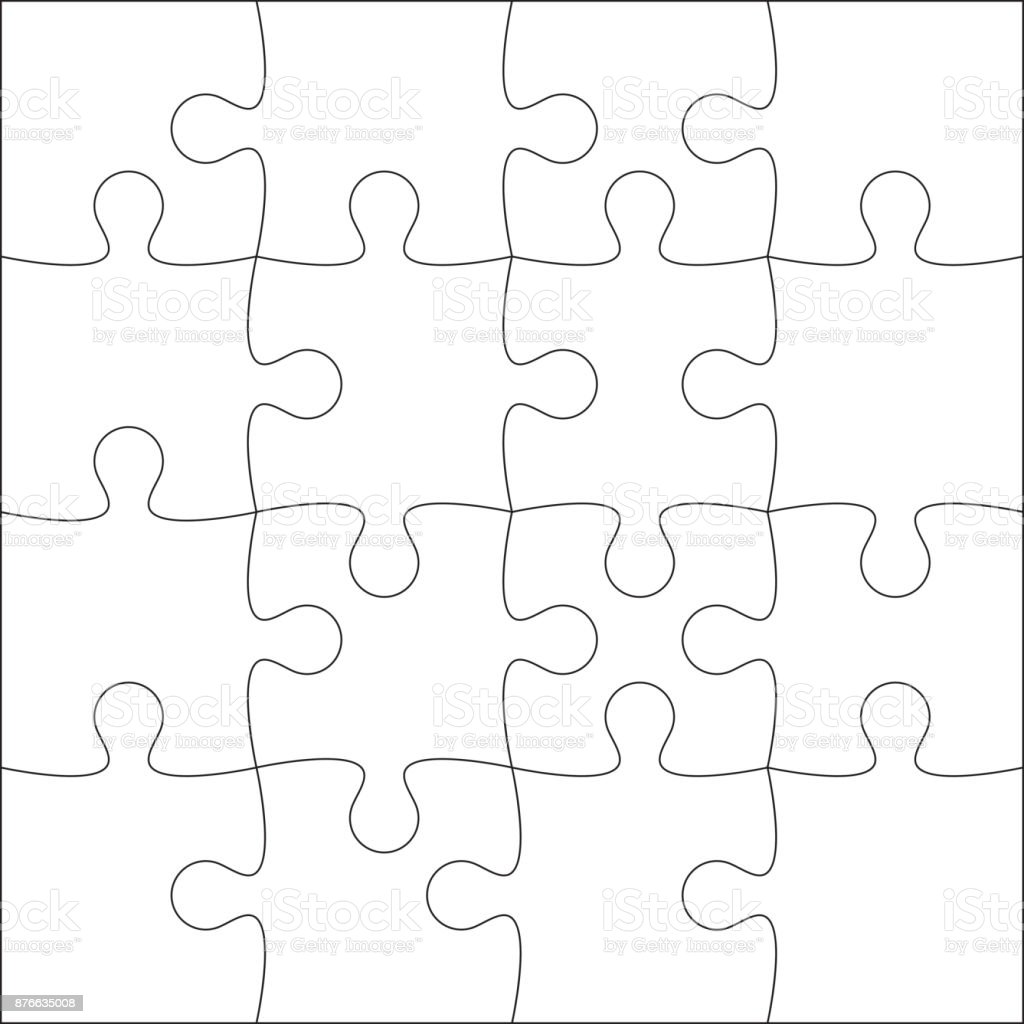 Jigsaw Puzzle Blank Stock Illustration - Download Image Now - iStock Within Blank Jigsaw Piece Template