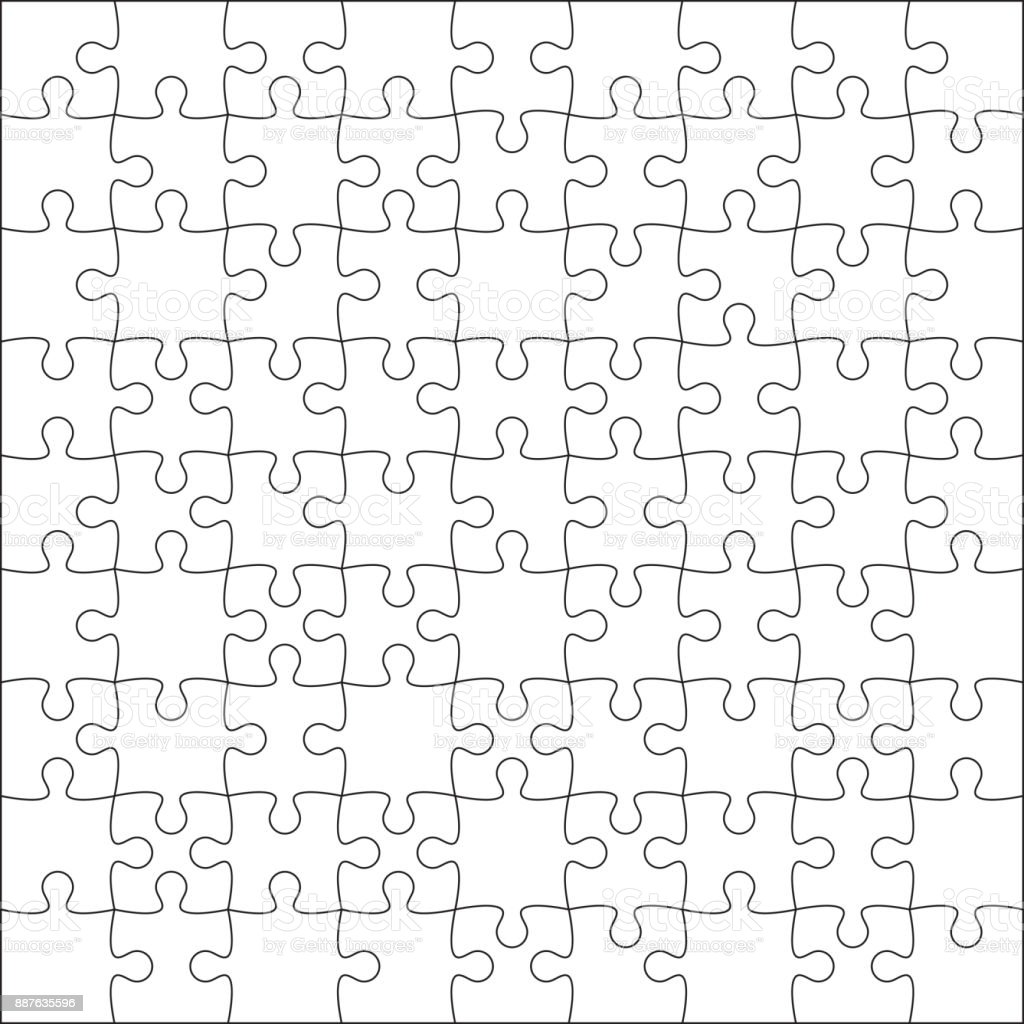 Jigsaw Puzzle Blank Stock Illustration - Download Image Now - iStock With Blank Jigsaw Piece Template
