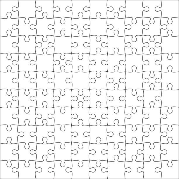 jigsaw puzzle leer. - puzzle stock-grafiken, -clipart, -cartoons und -symbole