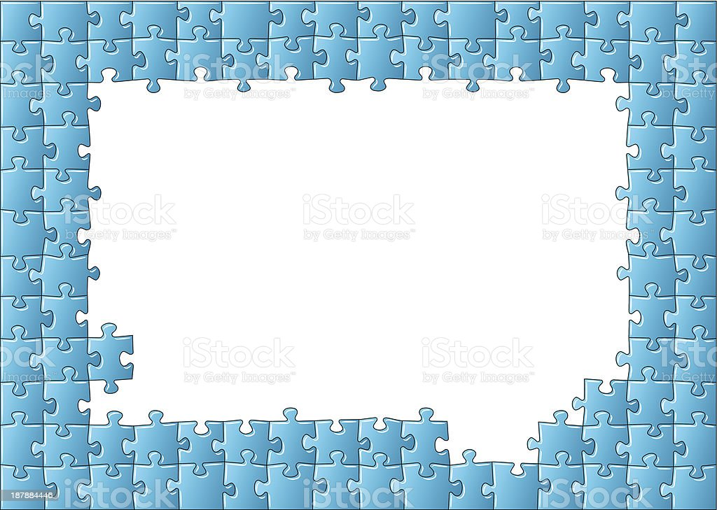 Jigsaw Puzzle Frame Stock Vector Art & More Images of Absence ...