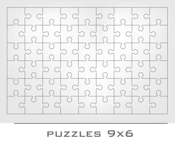 puzzle-rahmen - puzzle stock-grafiken, -clipart, -cartoons und -symbole