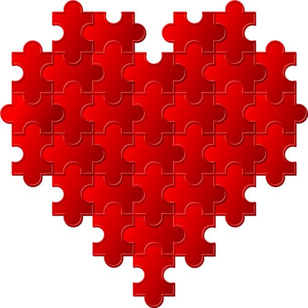 puzzle pieces heart