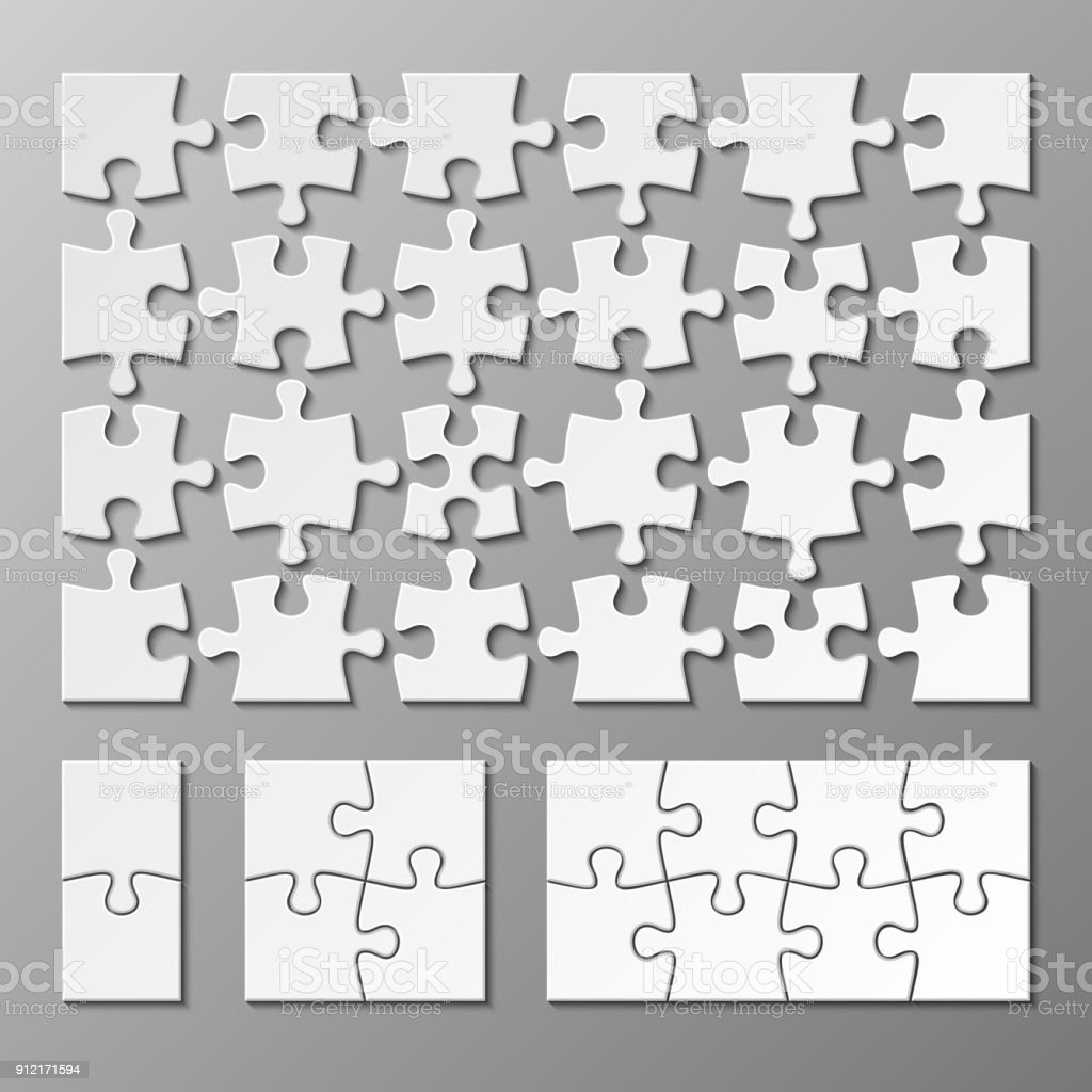 Jigsaw Puzzle Piece Vector Template Isolated Stock Vector Art & More ...