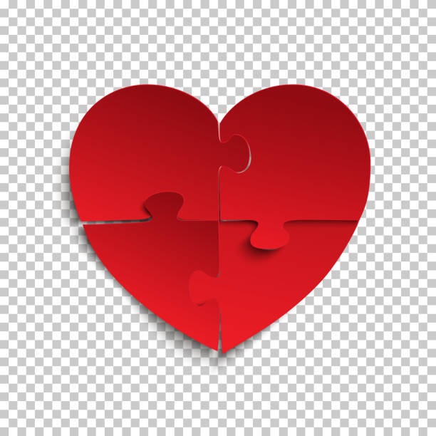 royalty free heart puzzle template clip art vector images