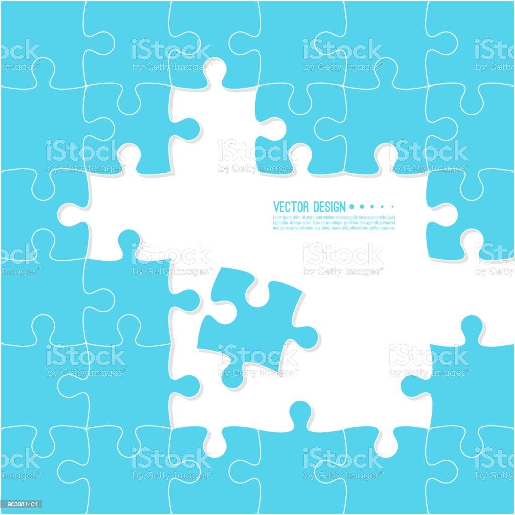 Jigsaw puzzle parçaları. vektör sanat illüstrasyonu