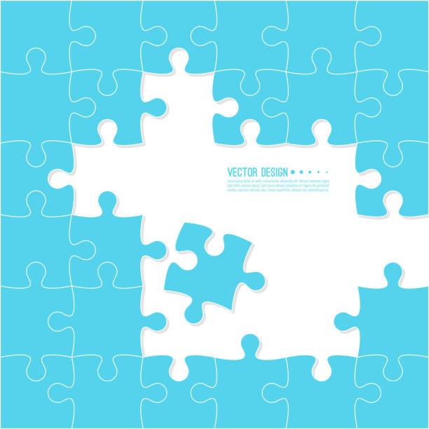 jigsaw puzzle-teile. - puzzle stock-grafiken, -clipart, -cartoons und -symbole