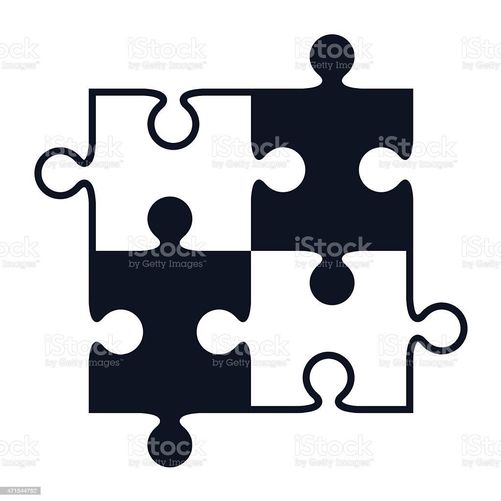 Royalty Free Puzzle Pieces Clip Art Vector Images