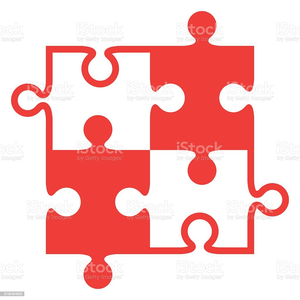 Jigsaw Puzzle Pieces Vector Stock Art More Images Of Choice