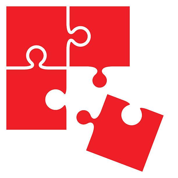 jigsaw puzzle pieces - vector - 不完整 幅插畫檔、美工圖案、卡通及圖標