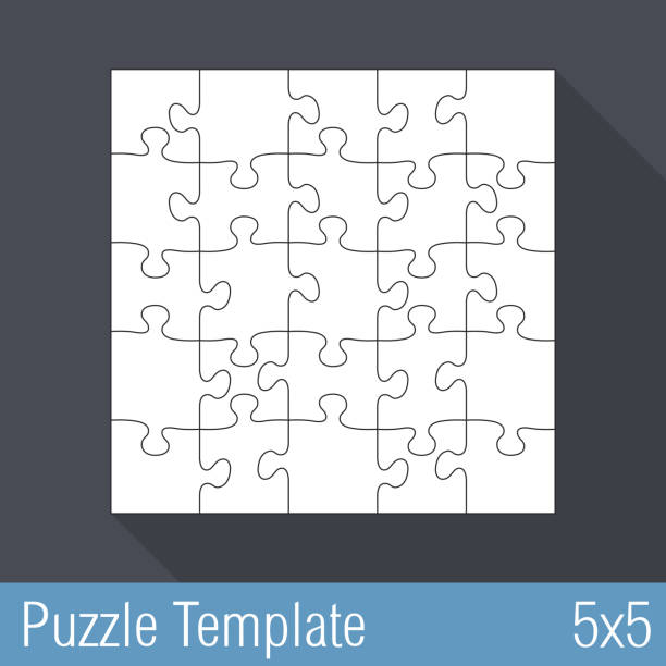 royalty free 5 piece puzzle background clip art vector images