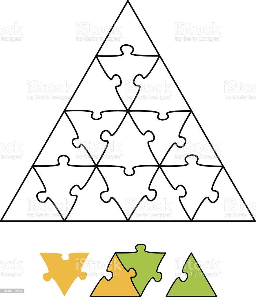 Jigsaw Puzzle Triangle vector art illustration