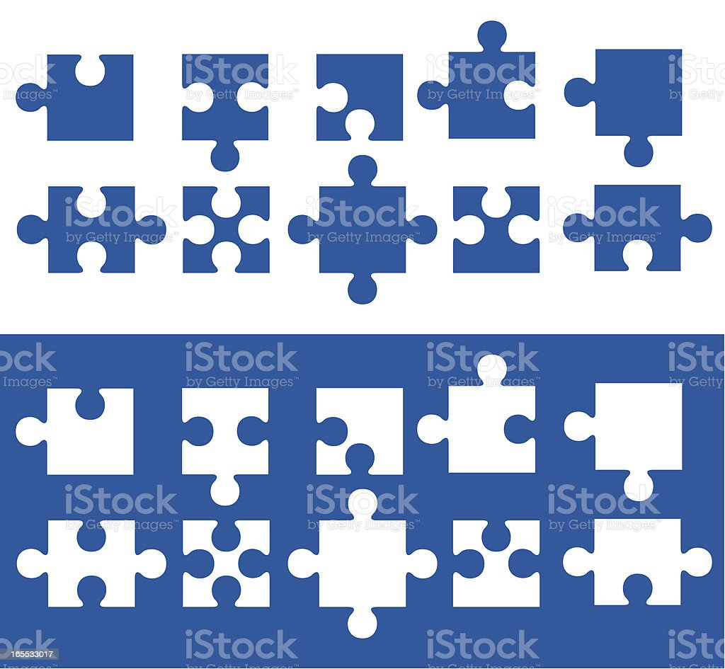Jigsaw Puzzle royalty-free stock vector art