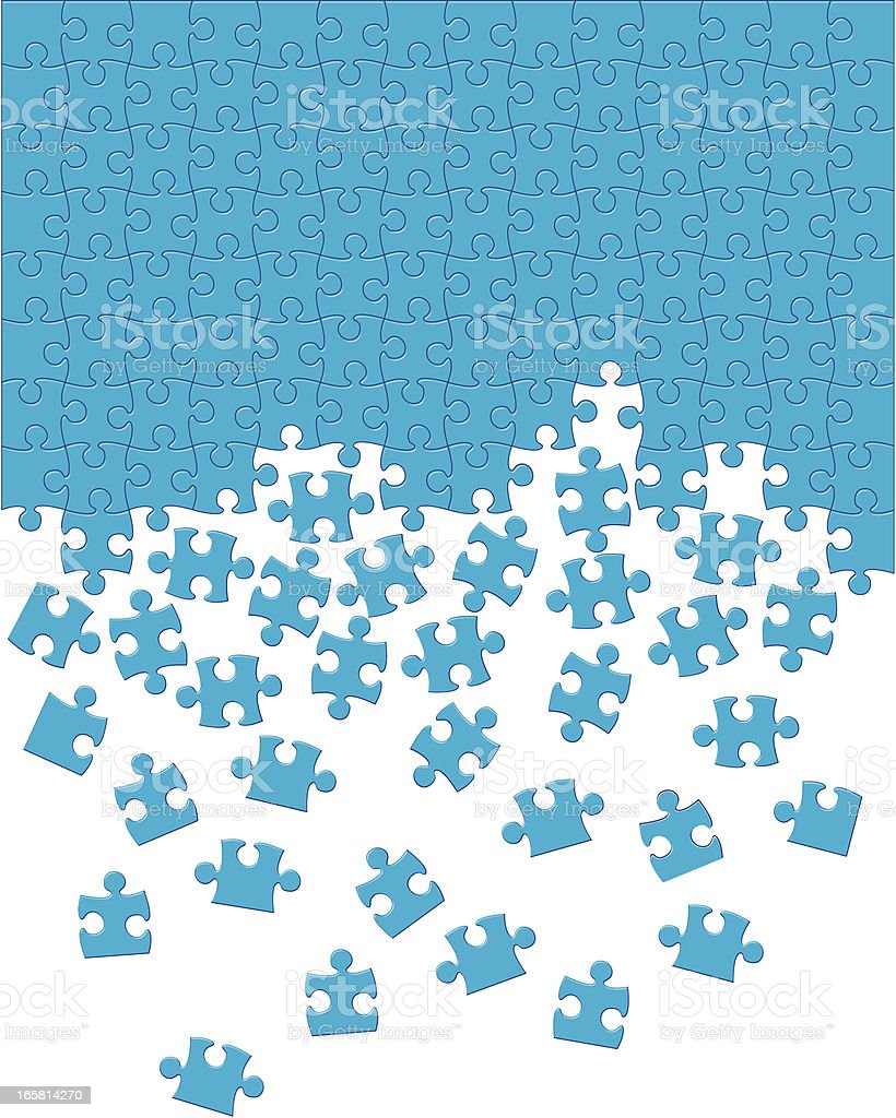 Jigsaw Puzzle vector art illustration