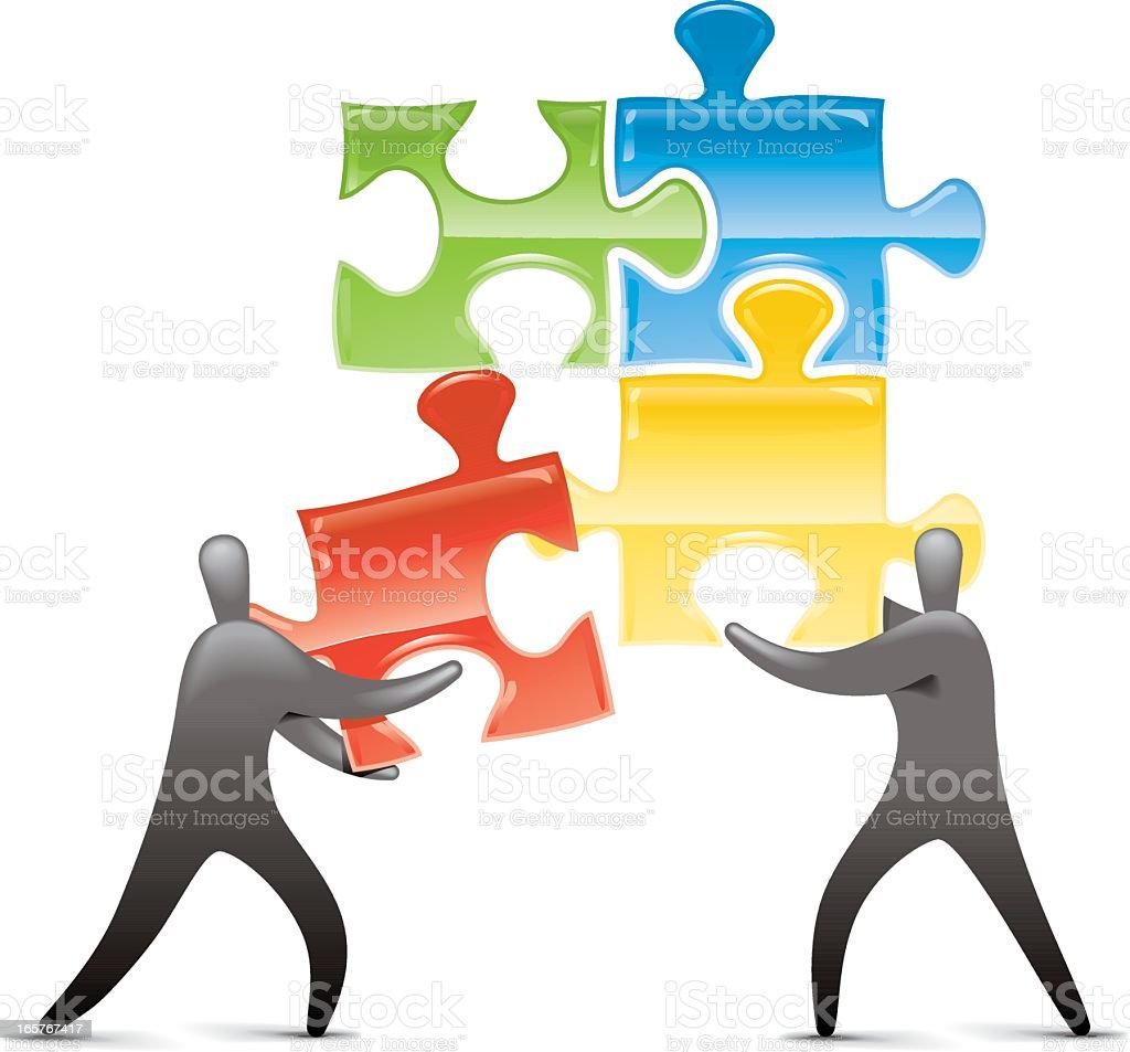 Jigsaw Solution Providers royalty-free stock vector art