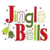 Jingle bells typography design