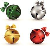 vector illustration Christmas jingle bells