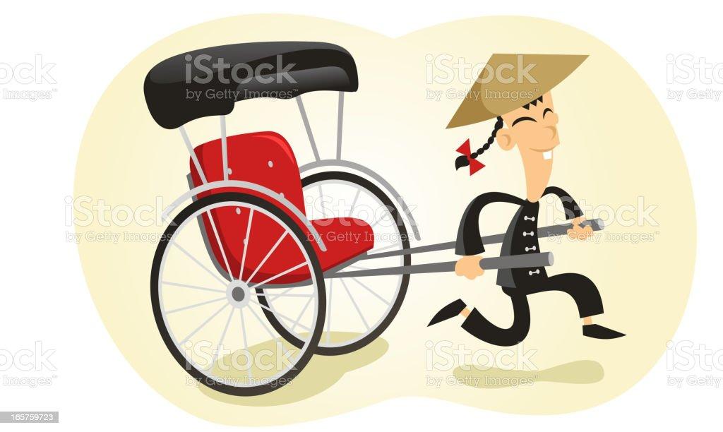 Jinriki royalty-free jinriki stock vector art & more images of activity