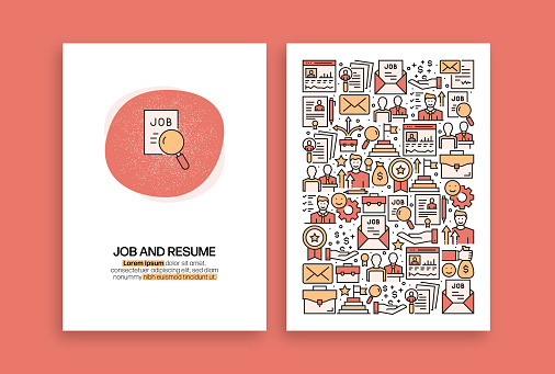 Job and Resume Related Design. Modern Vector Templates for Brochure, Cover, Flyer and Annual Report.