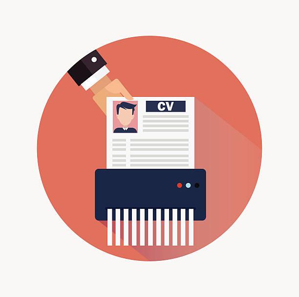 Job candidate elimination vector art illustration