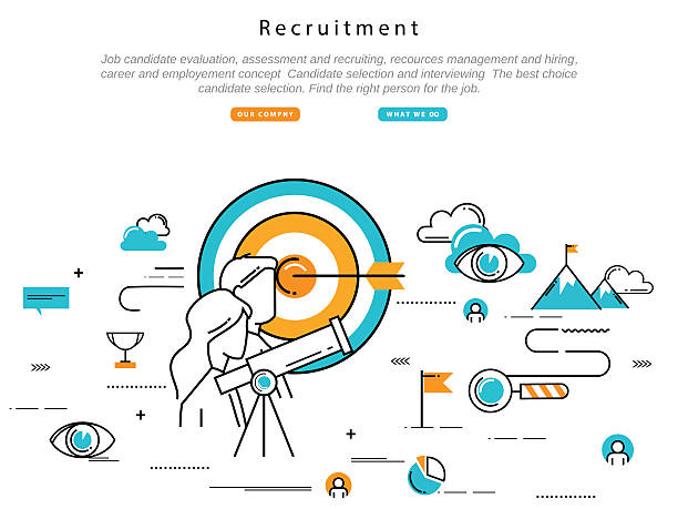 Job candidate selection concept vector art illustration