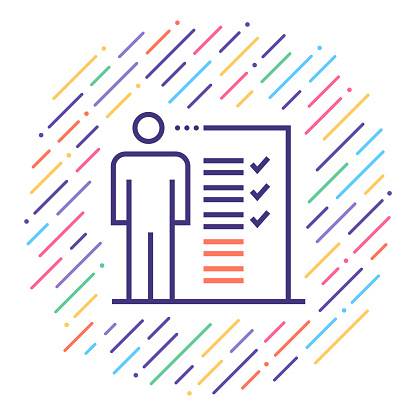 Job Description Line Icon Illustration