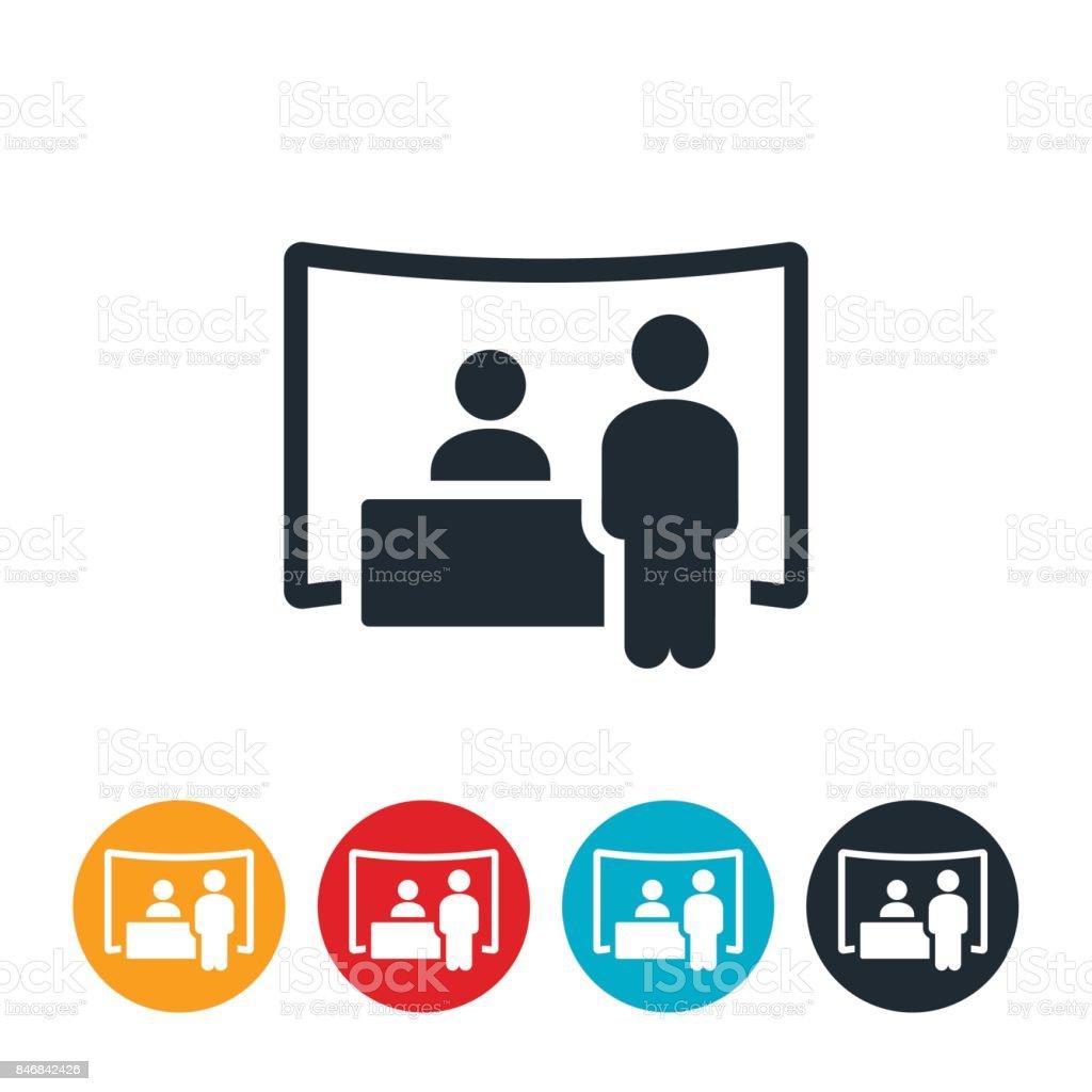 Job Fair Icon vector art illustration