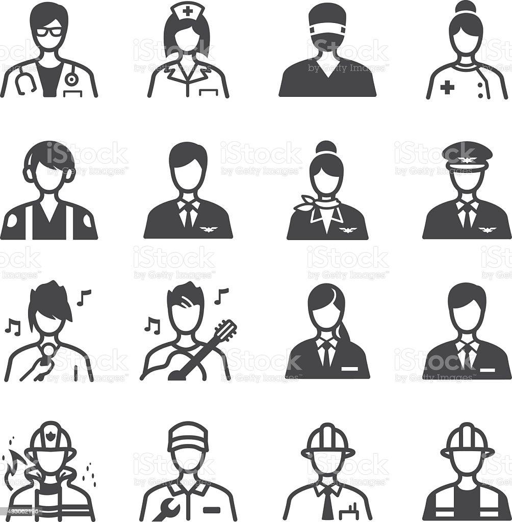 Job Icons Set stock vector art 493062196 | iStock