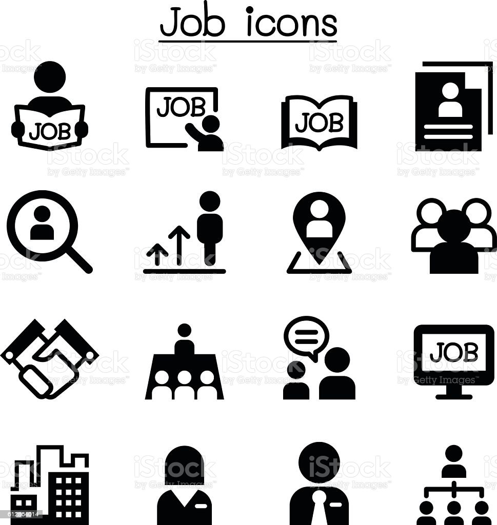 Job icons vector art illustration