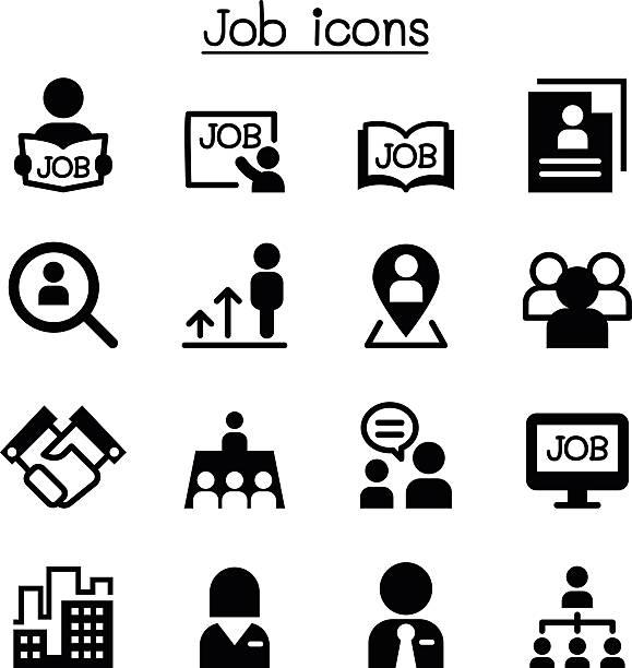 Job icons vector art illustration