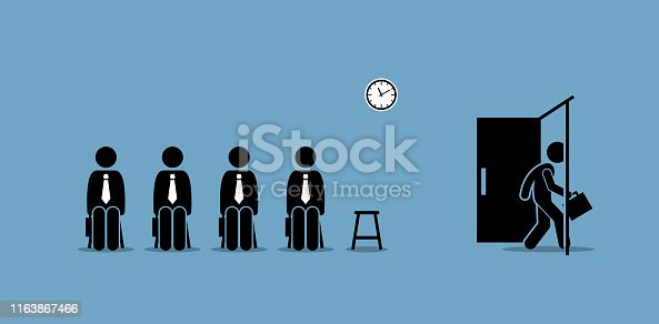 Vector artwork concept depict job recruitment, hiring, employment, job interview, and career opportunity.