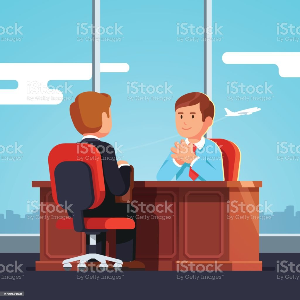 Job interview CEO or HR officer and candidate job interview ceo or hr officer and candidate – cliparts vectoriels et plus d'images de adulte libre de droits