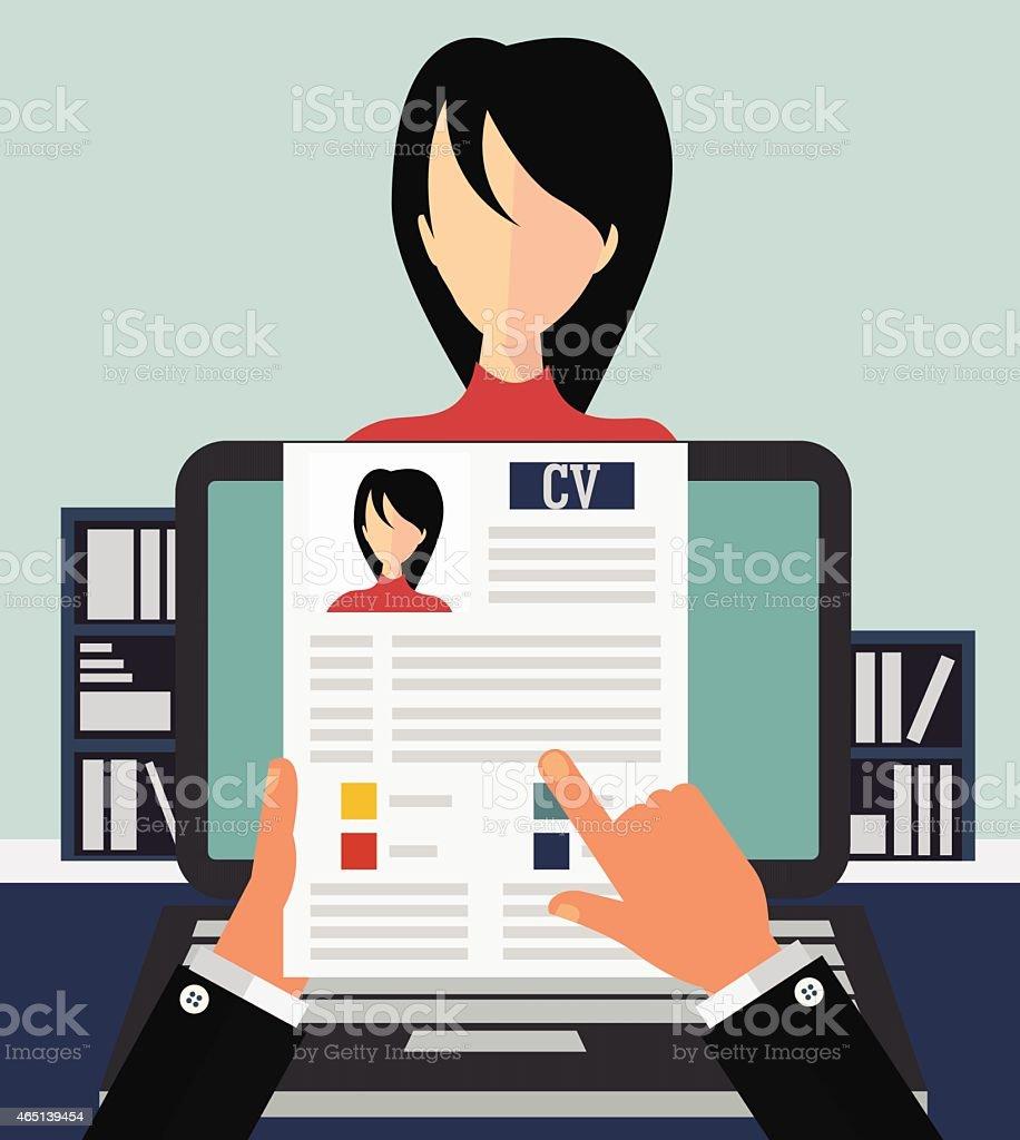 Job interview concept vector art illustration