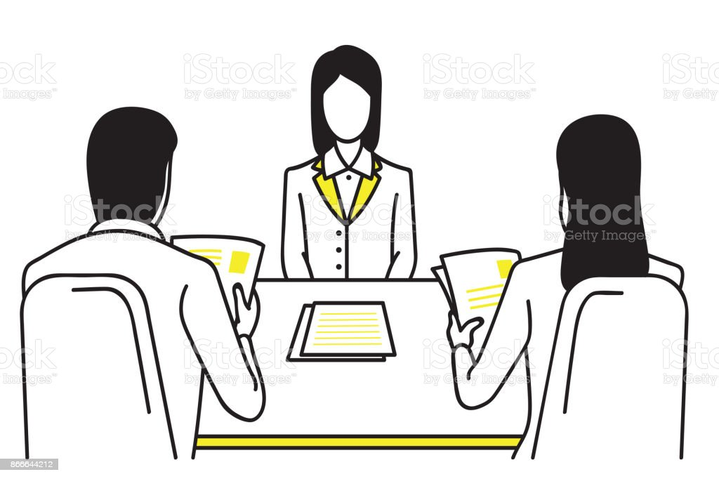 Job interview Konzept – Vektorgrafik