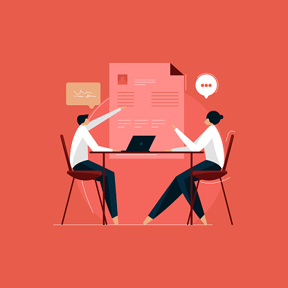 job interview process, hiring new employees, interview and recruitment concept