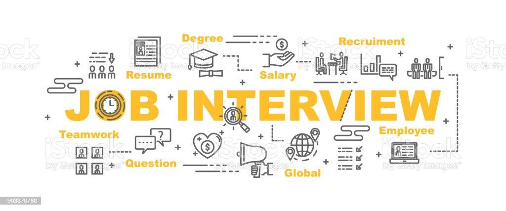 job interview vector banner - Grafika wektorowa royalty-free (Biuro)